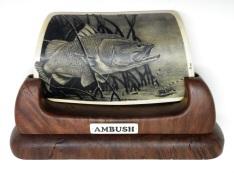 Ambush Barramundi Scrimshaw