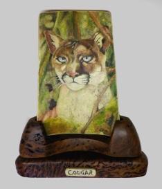 Cougar Scrimshaw