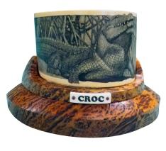Croc Crocodile Scrimshaw