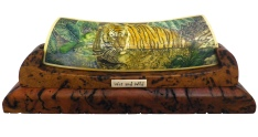 Swimming Tiger Scrimshaw