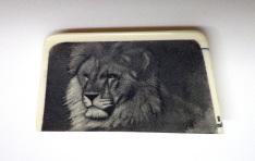 Mufasa Lion Scrimshaw