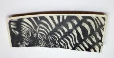 Zebras Drinking Scrimshaw
