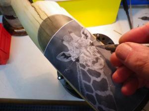 Giraffe Scrimshaw: Step 7