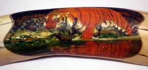 Step 8: Tiger In Water Scrimshaw After 101 Hours