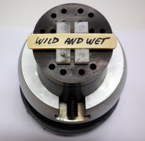 """Wild and Wet"" Name Plate in Clamp"