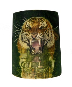 Tiger's Head Scrimshaw Completed