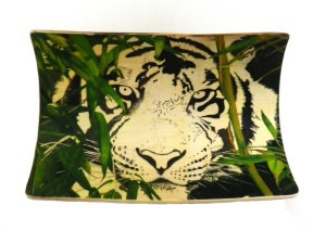Bamboo Tiger Scrimshaw Background Finished