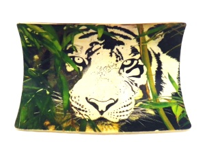 Bamboo Tiger Scrimshaw Part of Face Added