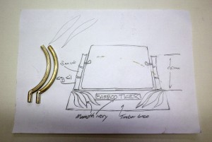 Bamboo Tiger Scrimshaw Stand Design