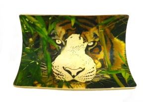 Bamboo Tiger Scrimshaw Right Side of Face Finished