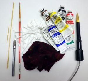 Coloured Scrimshaw Tools
